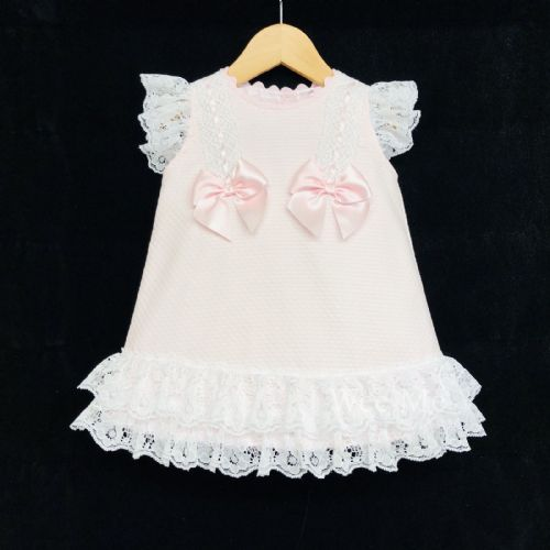 New Arrivals Gorgeous Baby Girl Pink Spanish Lace Dress